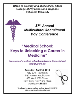"""Medical School: Keys to Unlocking a Career in Medicine"" Learn"