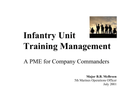 Infantry Unit Training Management