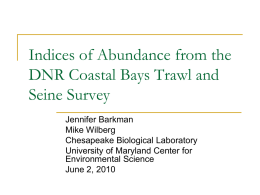 Barkman (UMCES) - Maryland Coastal Bays Program