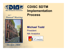 CDISC SDTM Implementation Process
