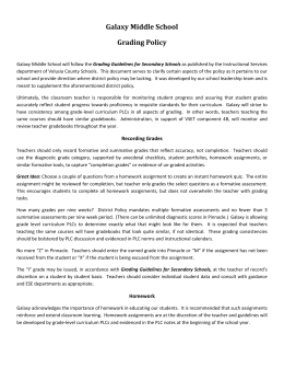 Galaxy Grading Policy - Volusia County Schools