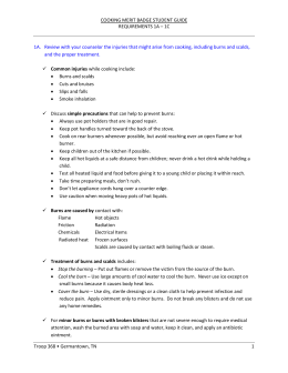 cooking merit badge student guide requirements