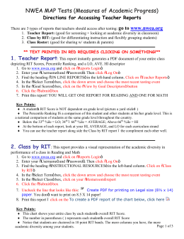 Directions for Running NWEA Teacher Reports - Inter
