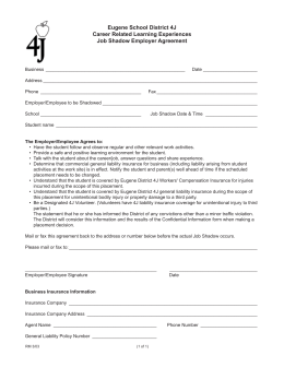 Job Shadow Employer Agreement