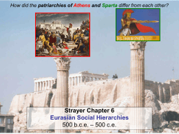How did the patriarchies of Athens and Sparta differ from each other?