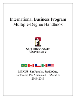 International Business Program Multiple