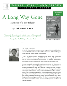 Teacher Guide - A Long Way Gone