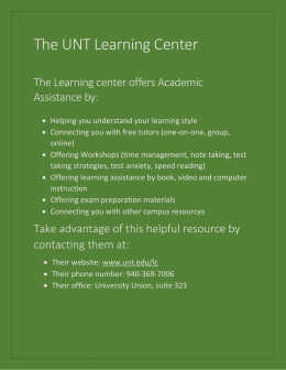 The UNT Learning Center