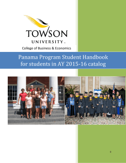 The Quality Leadership University/Towson