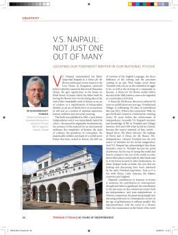V.S. Naipaul: NOT JuST ONE OuT OF MaNY