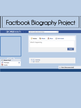 Factbook Biography Project