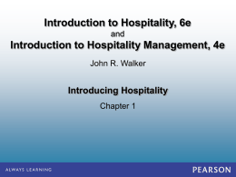 1 Introduction Hospitality