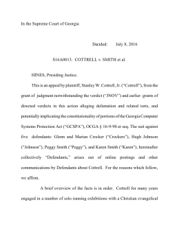 S16A0013. COTTRELL v. SMITH et al.