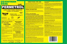 permetrol - Southern Agricultural Insecticides, Inc.