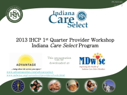 Indiana Care Select Program