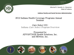 Care Select 101: Indiana Care Select Program Overview