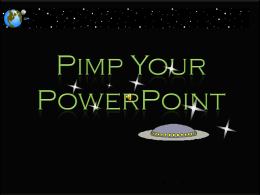 Pimp Your PowerPoint Handout