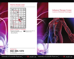 Infusion Therapy Center - University of Louisville Public