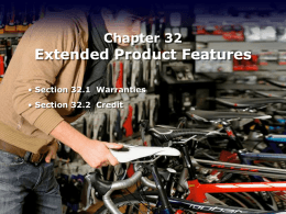Extended Product Features