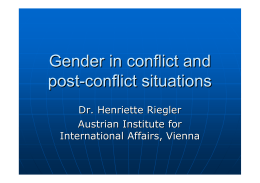 Gender in conflict and post
