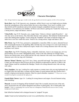 Chicago Character Descriptions
