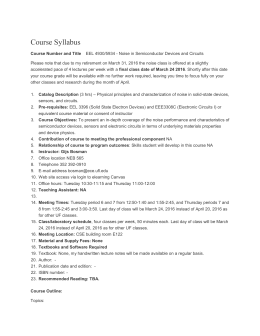 Course Syllabus - UF EDGE