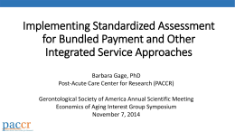 Implementing Standardized Assessment for Bundled