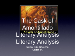 Cask of Amontillado SIFT