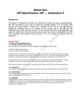 API 16F Section 14 Addendum 2014