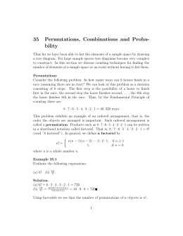 35 Permutations, Combinations and Proba