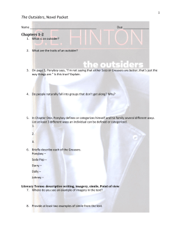 The Outsiders, Novel Packet