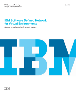 IBM Software Defined Network for Virtual