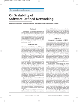 On Scalability of Software-Defined Networking