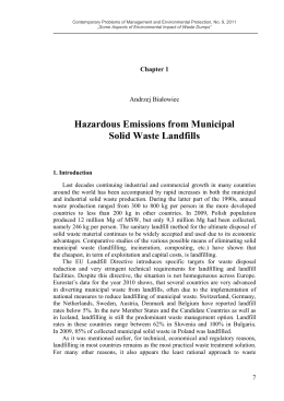 Hazardous Emissions from Municipal Solid Waste Landfills