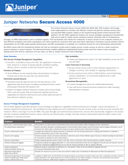 Juniper Networks Secure Access 4000
