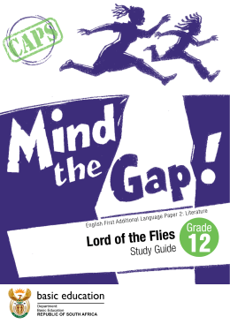 Lord of the Flies - Department of Basic Education