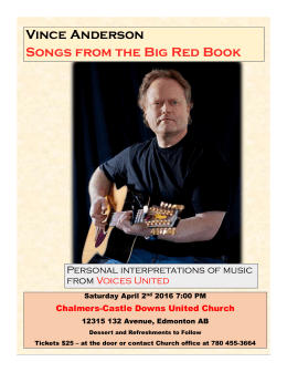 Vince Anderson Songs from the Big Red Book