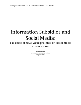 Information Subsidies and Social Media: The Effect of News Value