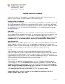 Employer Recruiting Agreement - Cockrell School of Engineering
