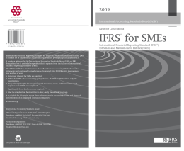 IFRS for SMEs Basis for Conclusions