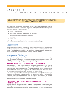IT Infrastructure: Management Opportunities, Challenges