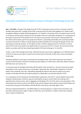 Successful completion of capital increase of Airopack Technology