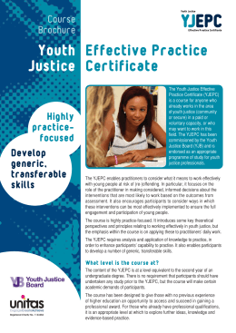 focused - Youth Justice Effective Practice Certificate