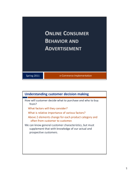 Consumer Behavior, Online Market Research, and Customer