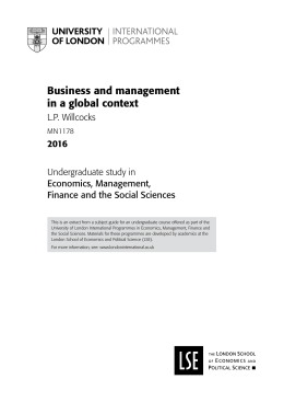 Business and management in a global context