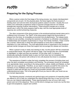 Preparing for the Dying Process