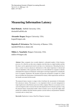 Measuring Information Latency