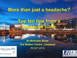 Than Just A Headache?