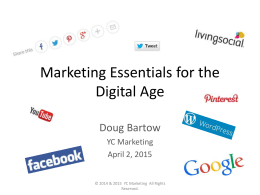 Marketing Essentials in the Digital Age April 2015