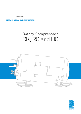 Notice Rotary compressors